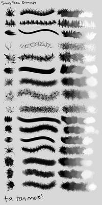 A Bunch of Free Brushes / Bitmaps [50+]