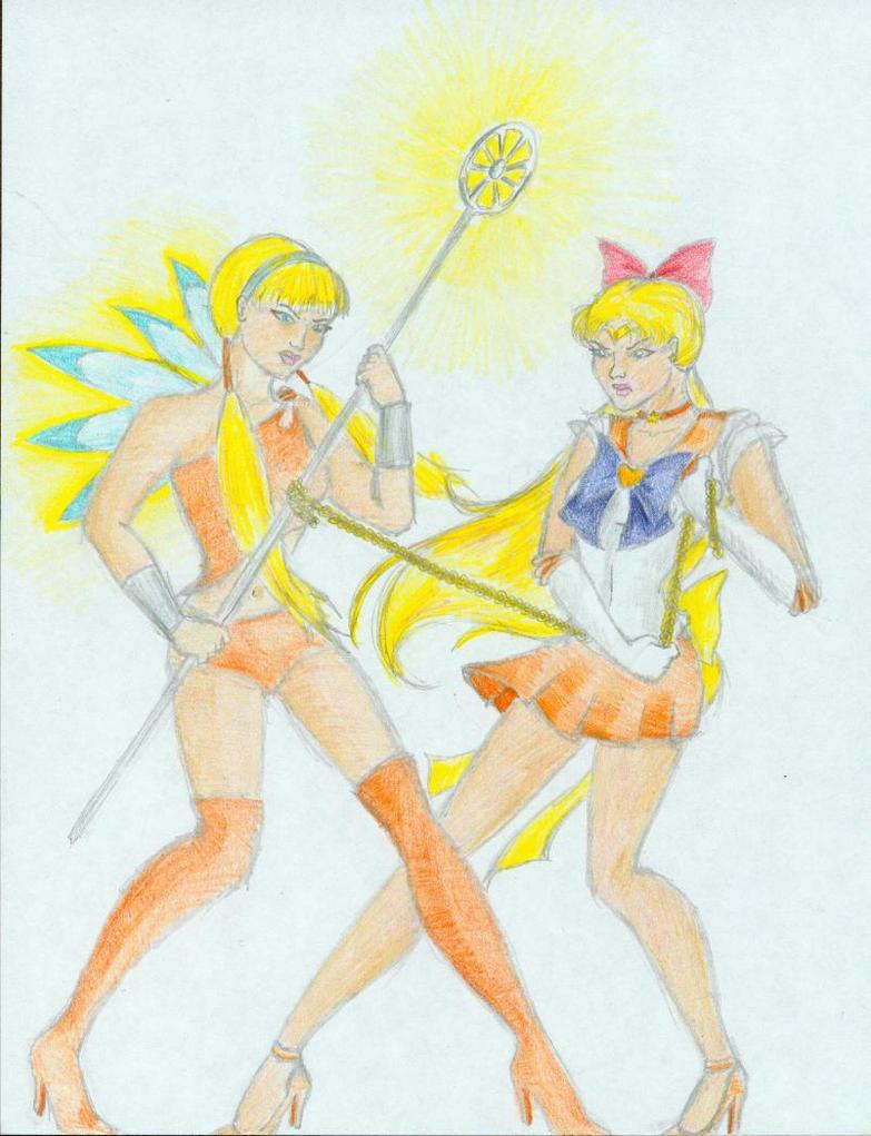 Stella versus Sailor Venus by nhiaphengthao