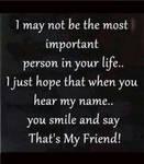 I just hope...
