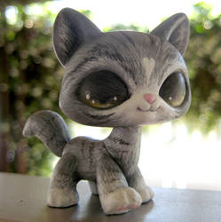 Grey Striped Cat LPS