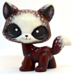 Red Riding Hood Walking Cat LPS Custom