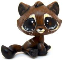 Shy Coffee Tabby Cat LPS Custom