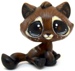 Shy Coffee Tabby Cat LPS Custom