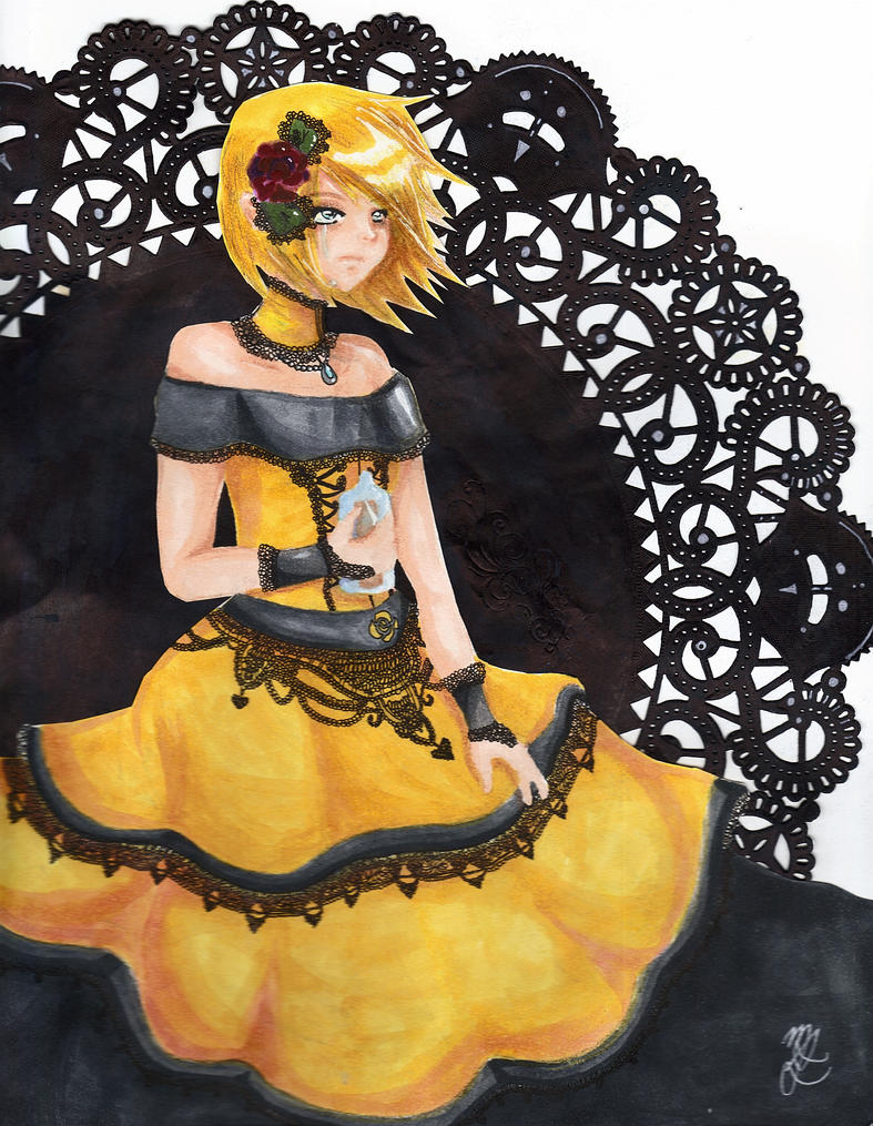 Rin kagamine and len kagamine daughter of evil