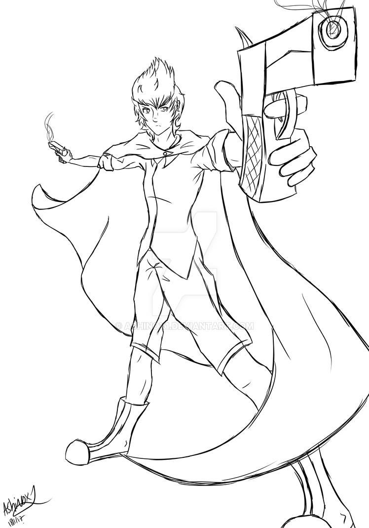 Sketch- Girl With Gun^-^XD!! by AshinoX1