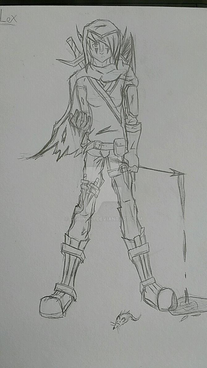 dnd-elf sketch by AshinoX1