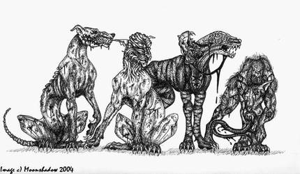 Silent Hill Hellhounds by Moonshadow01