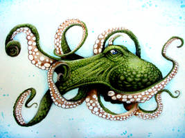 Green Octopus by dsilvabarred