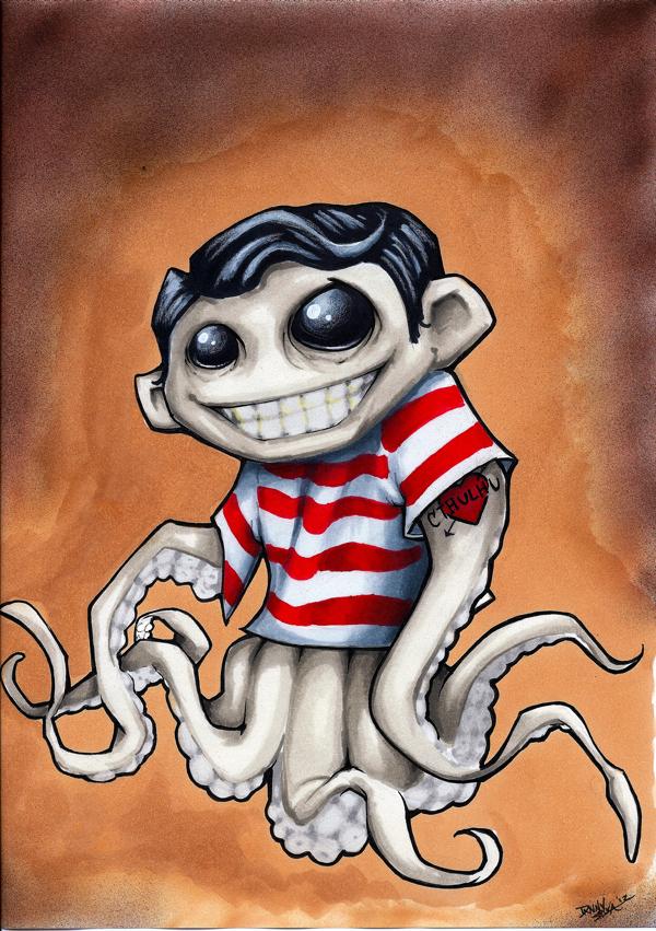 Squid Boy by dsilvabarred