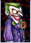 Joker Sketch Card Commission by dsilvabarred