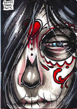 Day of the dead personal sketch card