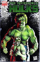 Incredible Hulks Sketch Cover commission