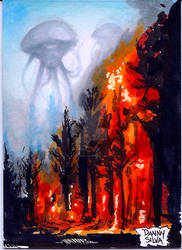 War of The Worlds trading card art