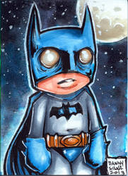 little Batman sketch card