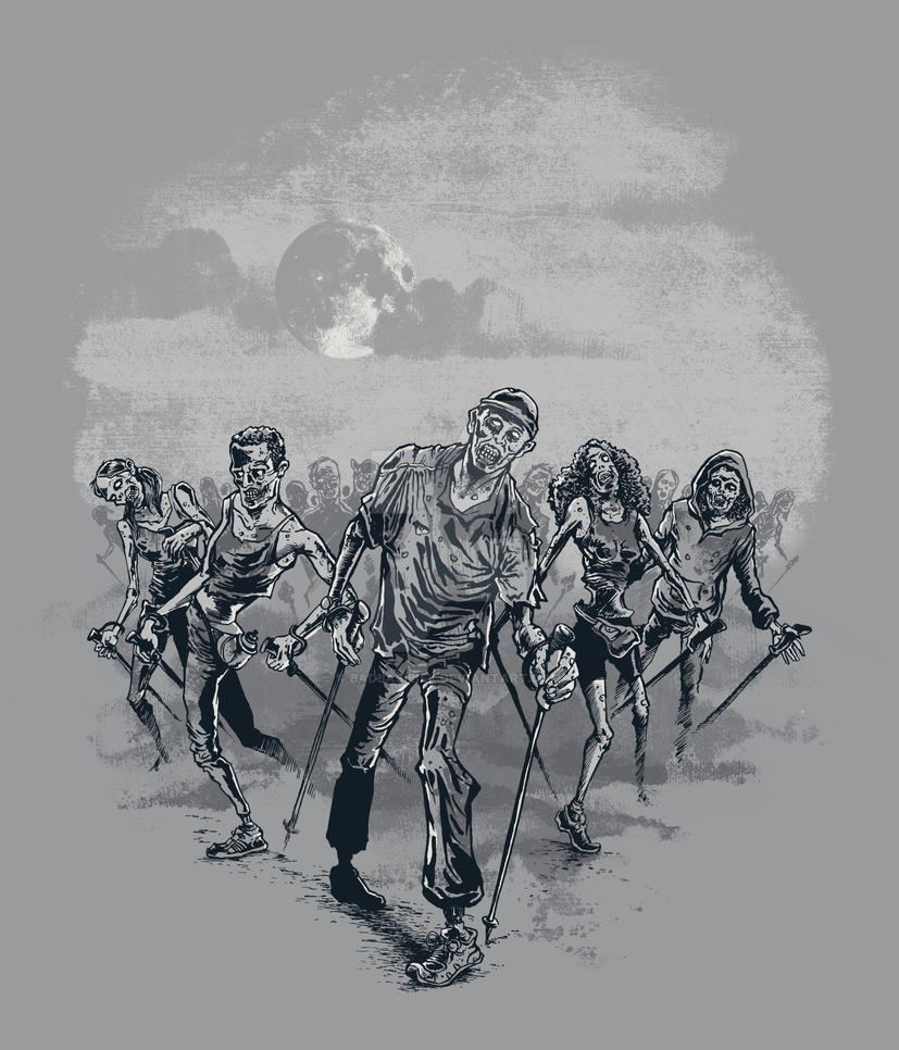 the NORDIC walking dead by badbasilisk