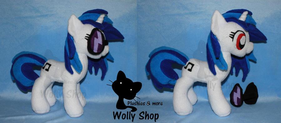 Dj Pon3 /vinyl Scratch pony Plush 2 by Vegeto-UchihaPortgas