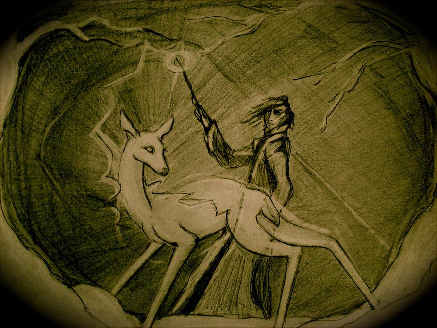 Snape's Patronus by joeyv7
