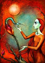 Envy Tends Her Garden