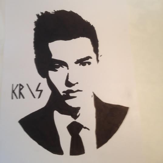 kris black and white pop art by pabogwiyeoun on deviantart