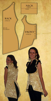 Reversible Corset Vest pattern and tutorial
