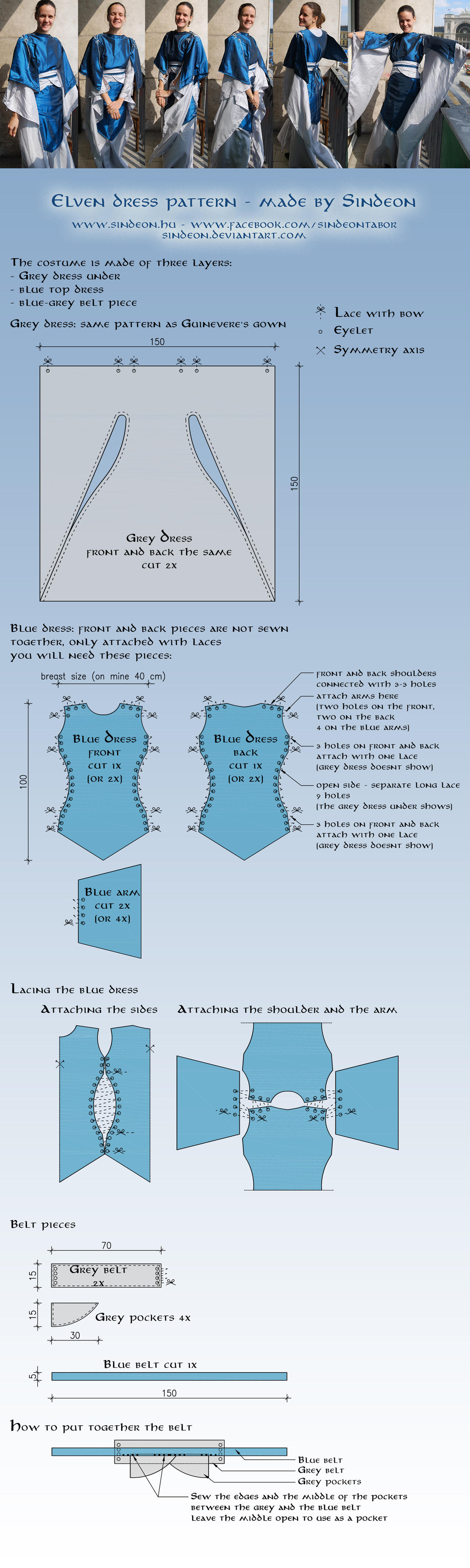 Elven dress pattern and tutorial