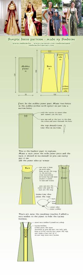 Simple medieval dress pattern