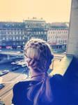 Queen hair style - hair net