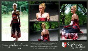 Fire priestess dress and jewelery