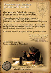 Facebook Flyer - Harry Potter wandmaking class by Sindeon