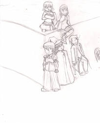 Group picture, WIP. by Draparde
