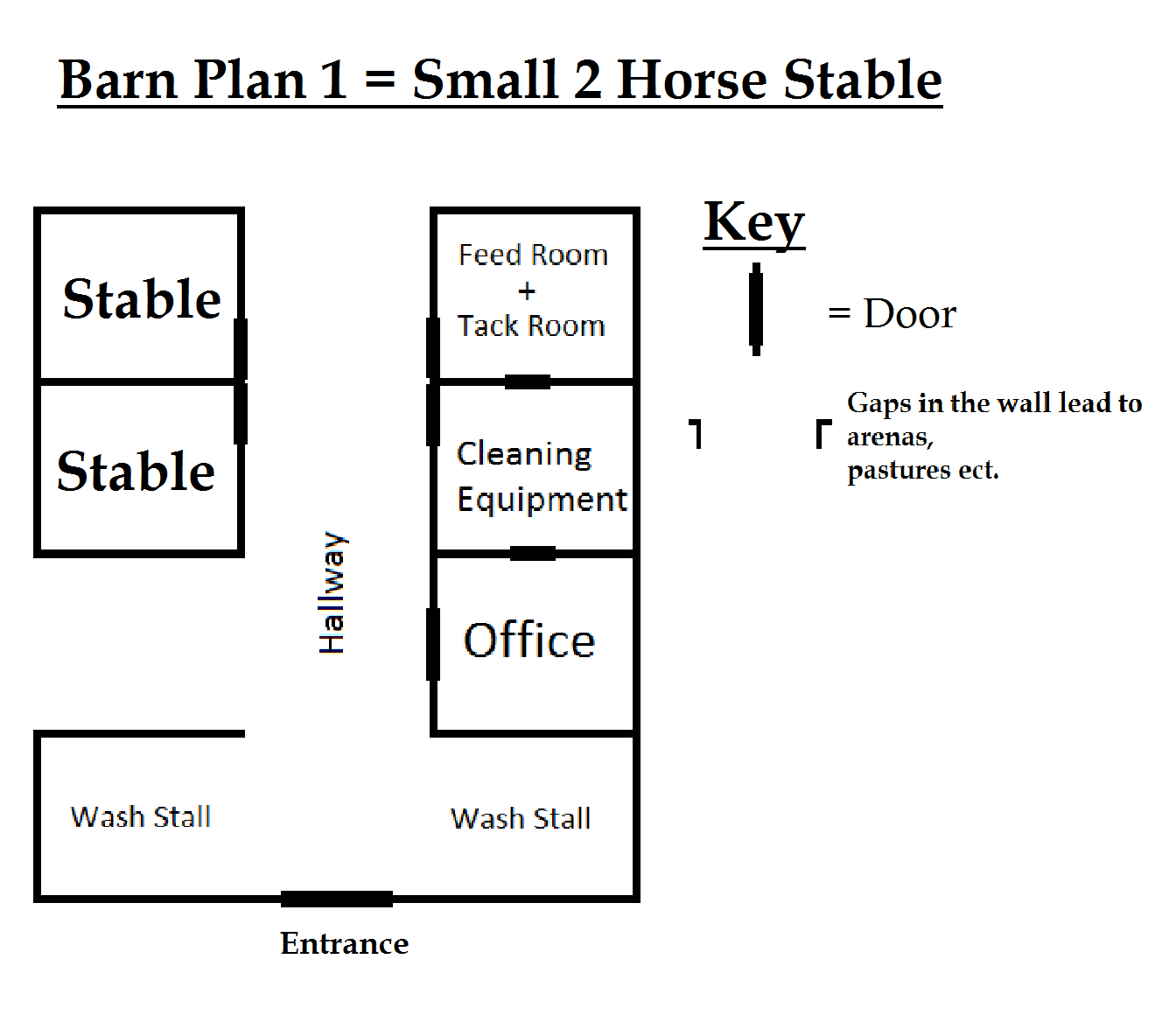Barn Plan Small 2 Horse Stable By Wolfdemondstar On