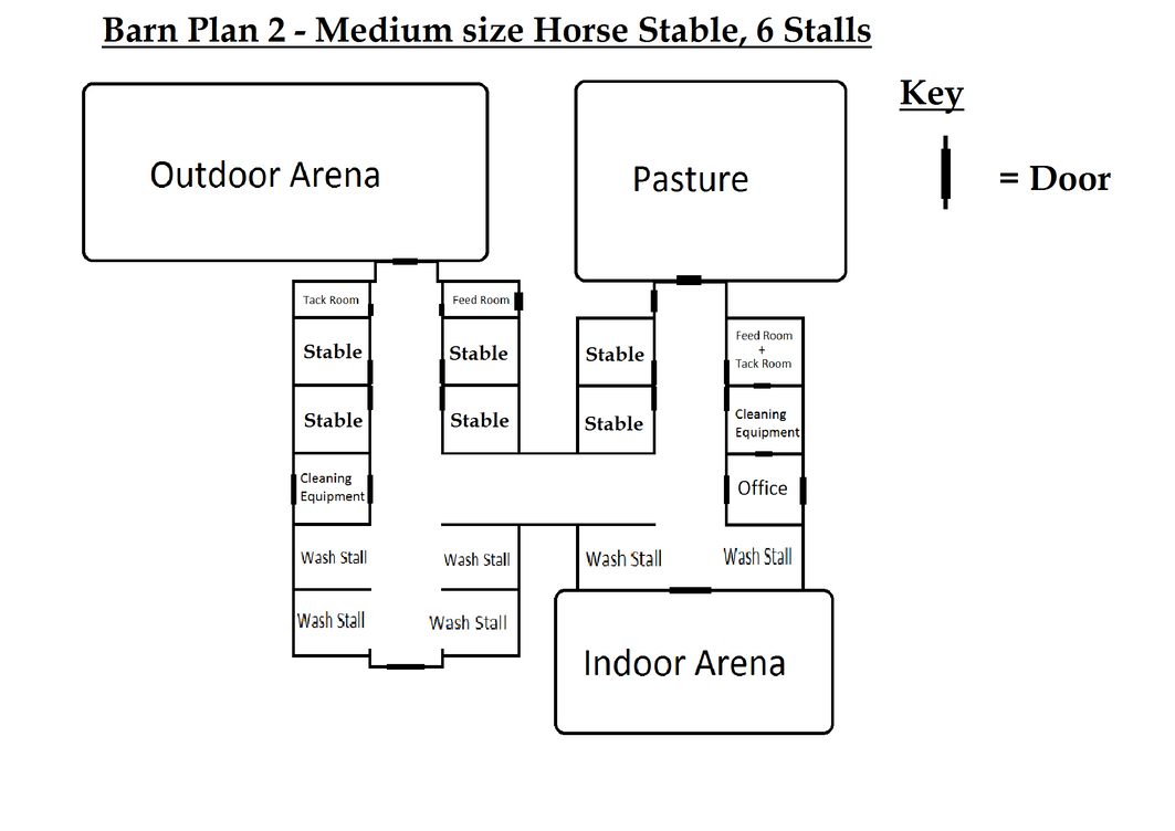 6 stall horse barn floor plans for 8 stall barn plans