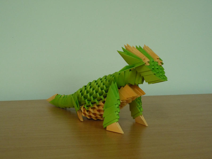 3d origami dragon by bartlq on deviantart