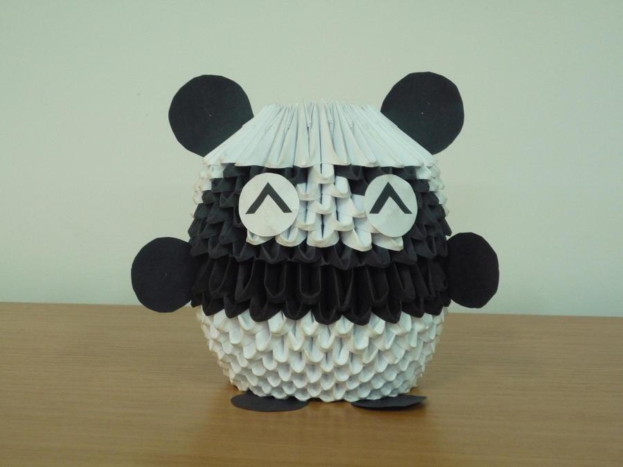 3D Origami Panda By Bartlq