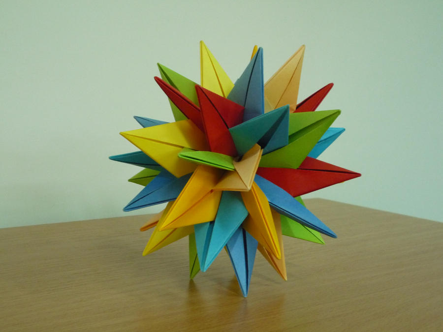 3D Origami Star by bartlq on DeviantArt