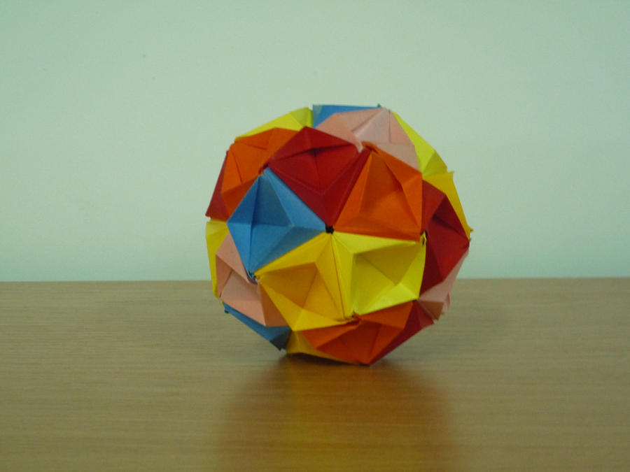 3d Origami Ball By Bartlq On Deviantart