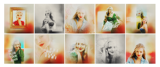 Amanda Seyfried icons by FatButterfly