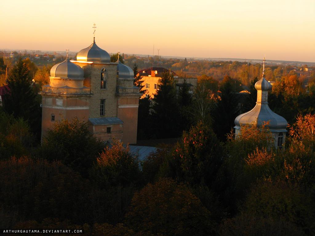 Sunset. Church by ArthurGautama