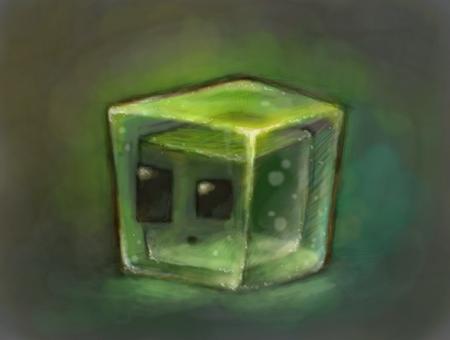 Minecraft Slime by Cortoony