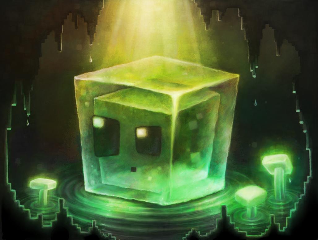 Good Wallpaper Minecraft Cute - minecraft_slime_ii_by_cortoony-d7ssr5w  HD_96772.png