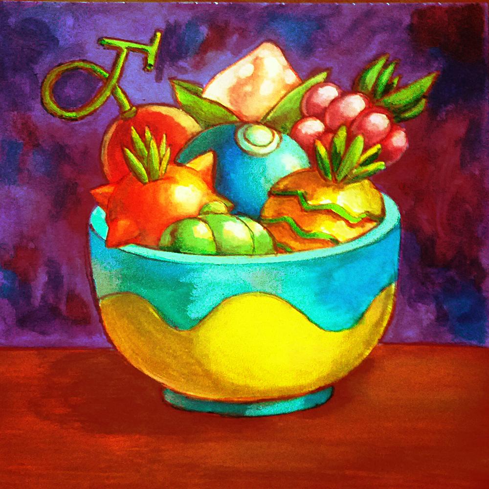 Inktober: Pokemon Berries by Cortoony