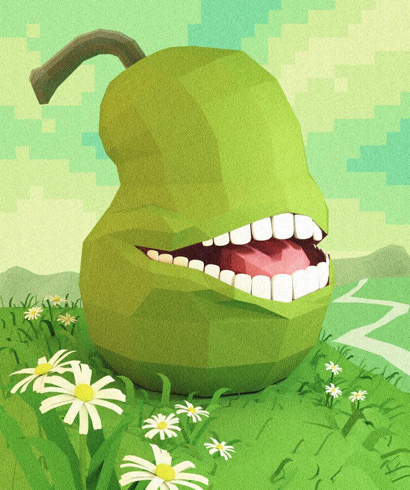 low poly pear by Cortoony