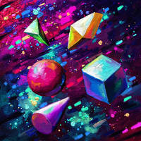 shapes in space by Cortoony