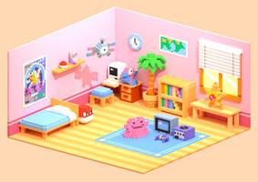 Voxel Pokemon Room