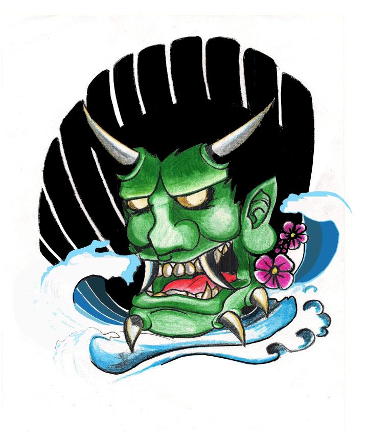 hanya tattoo. Green Hanya Tattoo Design by