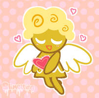 Valentine Angel Cookie  by Slimelting
