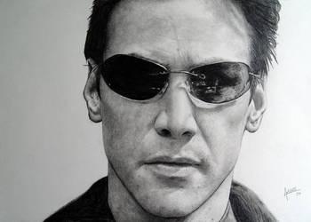Neo - Keanu Reeves  Matrix by agusgusart