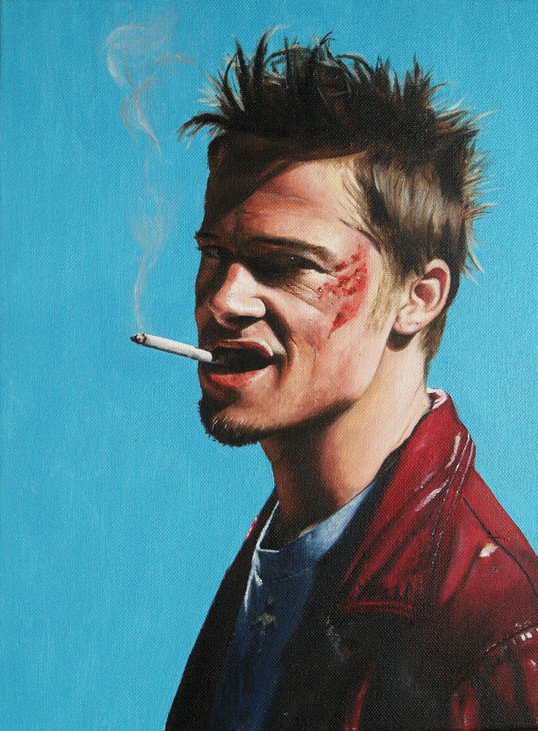 Tyler Durden (Brad Pitt in Fight Club) by agusgusart on - Hairstyle Video