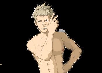 Owain, naked by StaleGren