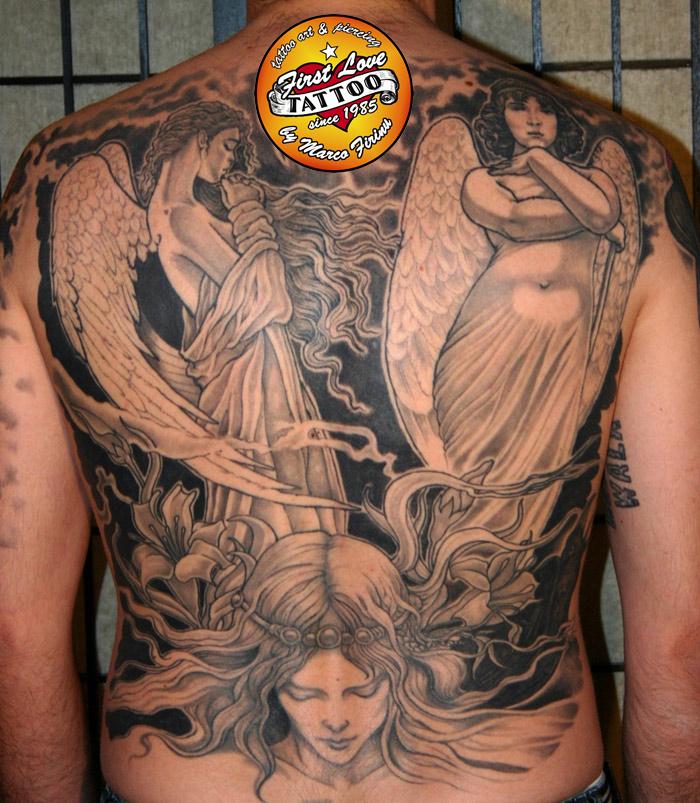 angels on the back by MarcoFirinu